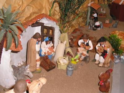 Nacimiento Canario de  Artesania Fataga en el Pueblo Canario