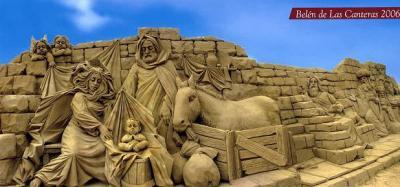 BELEN MONUMENTAL DE ARENA EN LA PLAYA DE LAS CANTERAS-GRAN CANARIA
